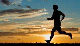 Man running silhoute