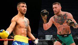 Boxer Vasyl Lomachenko and MMA fighter Conor Mcgregor