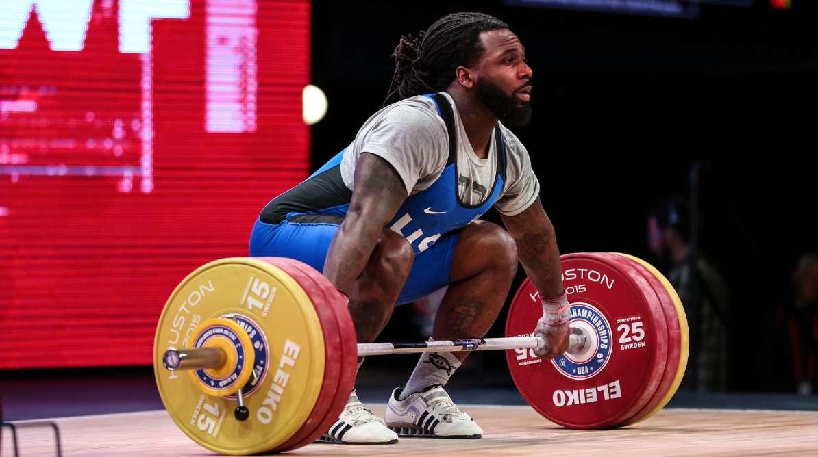 Kendrick Farris lifting weight